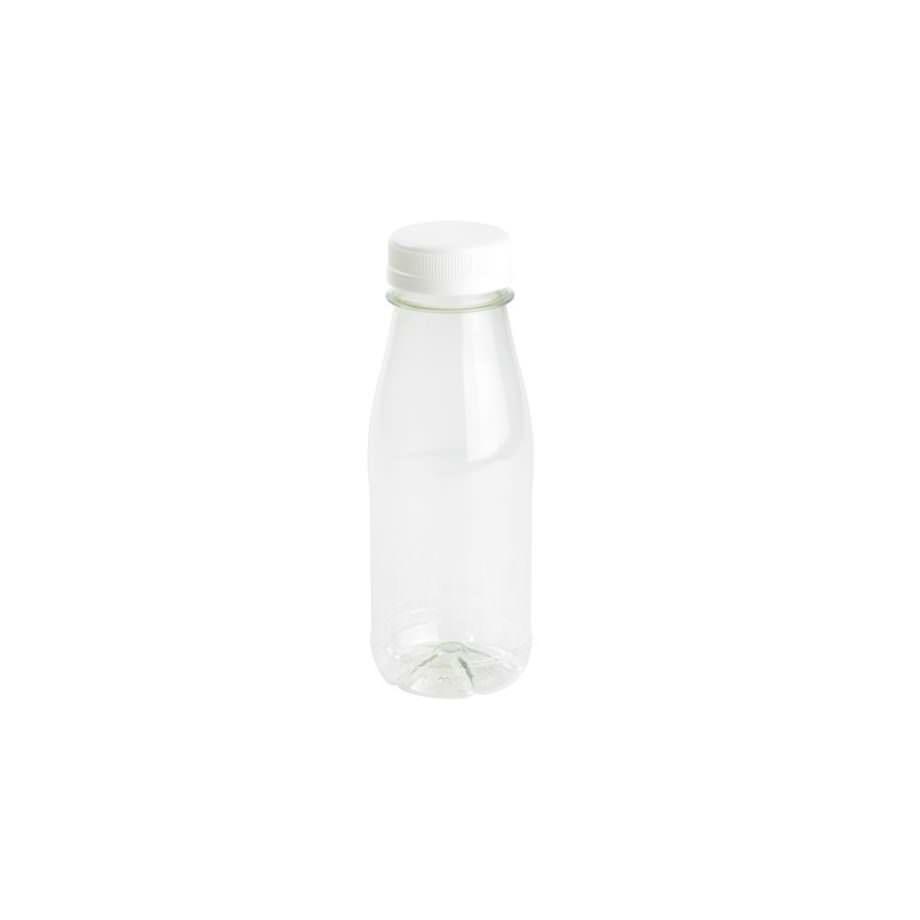 Botella rellenable de rPET, transparente, tapa blanca, 250 ml Las botellas de Bionatic Spain son 100% ecológicas, biodegradables, sostenibles y desechables. Biopacksystems es ahora Bionatic Spain, especialistas en envases ecológicos para alimentación desde 2010. La primera tienda online de envases ecológicos, biodegradables y compostables de calidad. Bionatic Spain ofrece una gama de productos ecológicos y 100% biodegradables a empresas de catering, restaurantes, truck food. Los envases de Bionatic Spain, son perfectos para take away, para llevar la comida que sobra en el restaurante y para comida para llevar en general. Los productos de biopacksystems y Bionatic Spain, son de calidad garantizada y con todos los certificados que exige la comunidad europea.