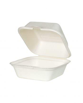 Caja eco de hamburgesa, cuadrada, 14,3 x 15 x 8,2 cm Las cajas de Bionatic Spain son 100% ecológicas, biodegradables, sostenibles y desechables. Biopacksystems es ahora Bionatic Spain, especialistas en envases ecológicos para alimentación desde 2010. La primera tienda online de envases ecológicos, biodegradables y compostables de calidad. Bionatic Spain ofrece una gama de productos ecológicos y 100% biodegradables a empresas de catering, restaurantes, truck food. Los envases de Bionatic Spain, son perfectos para take away, para llevar la comida que sobra en el restaurante y para comida para llevar en general. Los productos de biopacksystems y Bionatic Spain, son de calidad garantizada y con todos los certificados que exige la comunidad europea.