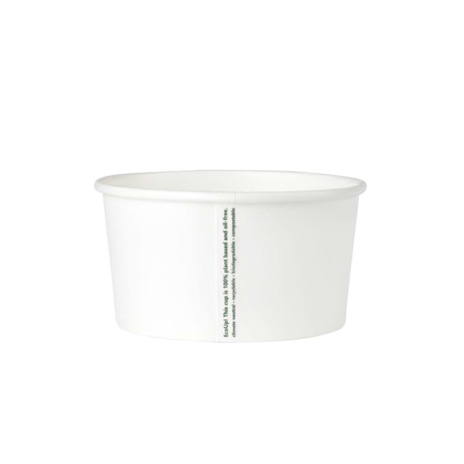 Tarrina universal de cartón biodegradable blanco, 150 ml Las tarrinas de helado de Bionatic Spain son 100% ecológicas, biodegradables, sostenibles y desechables. Biopacksystems es ahora Bionatic Spain, especialistas en envases ecológicos para alimentación desde 2010. La primera tienda online de envases ecológicos, biodegradables y compostables de calidad. Bionatic Spain ofrece una gama de productos ecológicos y 100% biodegradables a empresas de catering, restaurantes, truck food. Los envases de Bionatic Spain, son perfectos para take away, para llevar la comida que sobra en el restaurante y para comida para llevar en general. Los productos de biopacksystems y Bionatic Spain, son de calidad garantizada y con todos los certificados que exige la comunidad europea.
