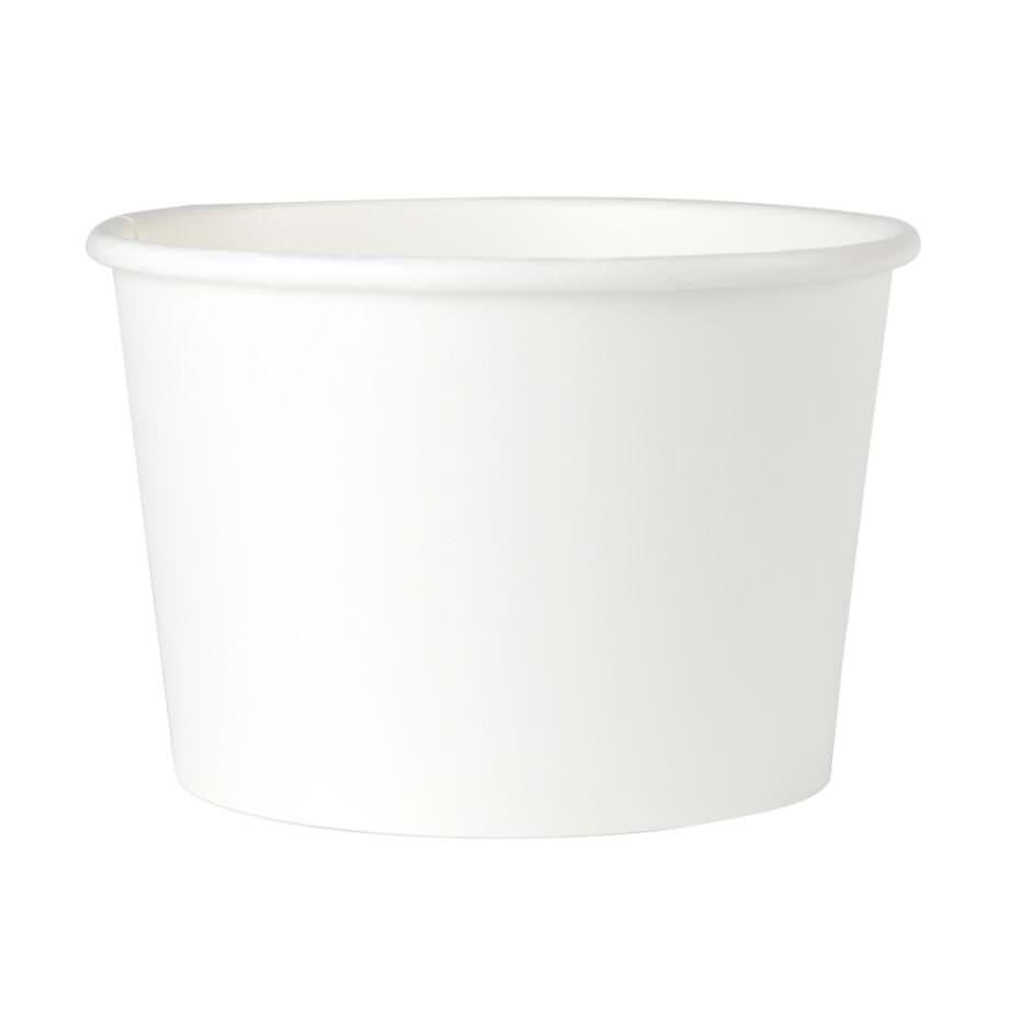 Tarrina universal de cartón bio blanco, 400 ml, Ø 115 mm Las tarrinas de helado de Bionatic Spain son 100% ecológicas, biodegradables, sostenibles y desechables. Biopacksystems es ahora Bionatic Spain, especialistas en envases ecológicos para alimentación desde 2010. La primera tienda online de envases ecológicos, biodegradables y compostables de calidad. Bionatic Spain ofrece una gama de productos ecológicos y 100% biodegradables a empresas de catering, restaurantes, truck food. Los envases de Bionatic Spain, son perfectos para take away, para llevar la comida que sobra en el restaurante y para comida para llevar en general. Los productos de biopacksystems y Bionatic Spain, son de calidad garantizada y con todos los certificados que exige la comunidad europea.