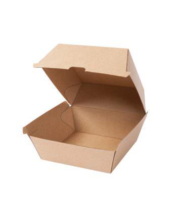 Caja para hamburguesa de cartón kraft, 16,8 x 15,4 x 9,8 cm Las cajas de Bionatic Spain son 100% ecológicas, biodegradables, sostenibles y desechables. Biopacksystems es ahora Bionatic Spain, especialistas en envases ecológicos para alimentación desde 2010. La primera tienda online de envases ecológicos, biodegradables y compostables de calidad. Bionatic Spain ofrece una gama de productos ecológicos y 100% biodegradables a empresas de catering, restaurantes, truck food. Los envases de Bionatic Spain, son perfectos para take away, para llevar la comida que sobra en el restaurante y para comida para llevar en general. Los productos de biopacksystems y Bionatic Spain, son de calidad garantizada y con todos los certificados que exige la comunidad europea.