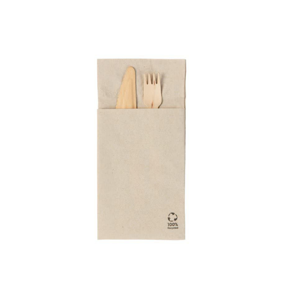 Servilleta de papel bio para cubiertos, 10 x 19,5 cm, 2 hojas Biopacksystems es ahora Bionatic Spain, especialistas en envases ecológicos para alimentación desde 2010. La primera tienda online de envases ecológicos, biodegradables y compostables de calidad. Bionatic Spain ofrece una gama de productos ecológicos y 100% biodegradables a empresas de catering, restaurantes, truck food. Los envases de Bionatic Spain, son perfectos para take away, para llevar la comida que sobra en el restaurante y para comida para llevar en general. Los productos de biopacksystems y Bionatic Spain, son de calidad garantizada y con todos los certificados que exige la comunidad europea.