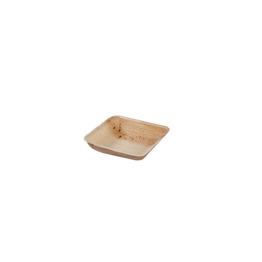 Bandeja eco de hoja de palma, cuadrada, 80 ml Las bandejas de Biopacksystems son 100% ecológicas, biodegradables y sostenibles. Biopacksystems es ahora Bionatic Spain, especialistas en envases ecológicos para alimentación desde 2010. La primera tienda online de envases ecológicos, biodegradables y compostables de calidad. Bionatic Spain ofrece una gama de productos ecológicos y 100% biodegradables a empresas de catering, restaurantes, truck food. Los envases de Bionatic Spain, son perfectos para take away, para llevar la comida que sobra en el restaurante y para comida para llevar en general. Los productos de biopacksystems y Bionatic Spain, son de calidad garantizada y con todos los certificados que exige la comunidad europea.