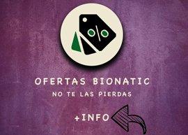 Ofertas y Outlet de productos Bionatic Spain, la primera tienda online de envases 100% compostables, biodegradables y ecológicos, botón para volver a Materias primas para envases 100% ecológicos, para alimentos. Descuentos y rebajas importantes para ti