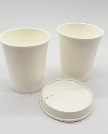 Vasos de cartón libres de plástico y Pla, para bebidas calientes y frías de Bionatic Spain Ref LHD90005